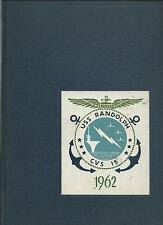 USS RANDOLPH CVS-15 TASK GROUP ALFA CRUISE BOOK LOG 1962 - RECOVERY FOR J. GLENN