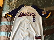 100% Authentic Kobe Bryant Mitchell & Ness Lakers Baseball Jersey Size Medium