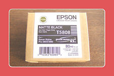 Genuine Epson Pro 3800 3880 Matte Black Ink  T5808 T580800 Exp 09-2015