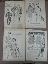 4 PATRONS MODE ECHO FEMMES D AUJOURD HUI / PATTERNS FASHION EMBROIDERY 1955 (15)