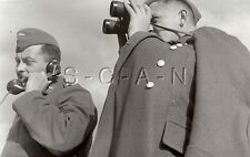 WWII German Luftwaffe Large RP- Hat- Coat- On Telephone- Spotter with Binoculars
