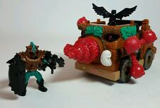 FISHER PRICE IMAGINEXT CASTLE ATTACK WAGON - FOREST BATTLE WAGON