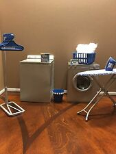 OOAK 1:6 Scale Furniture: Washer, Dryer Iron; For Barbie Laundry Room Diorama