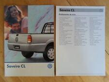 VOLKSWAGEN BRAZIL SAVEIRO CL orig 1998-99 Glossy Sales Brochure + Specs - VW