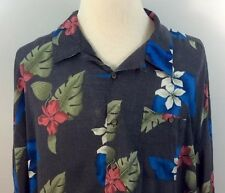 Hawaiian Camp Shirt Floral Bruno Men's 4XLT100% Rayon Red Blue Green White