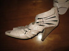 NEXT PALE PINK LEATHER STRAPPY SANDALS ZIP BACK SIZE UK 5 EUR 38 NEW