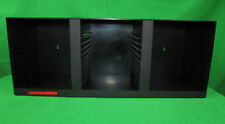 LASERLINE Compact Disc CD Fits 36 Black Wall Mount Plastic Rack Storage Holder