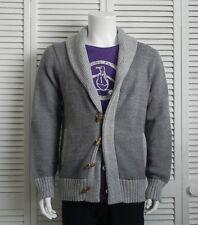 NEW Mens SIZE XXL 2XL ALPACA Gray Grey Shawl Collar Cardigan Sweater PERU