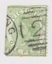 (BNA-94) 1873 AU VIC 1d green Side face (space filler)