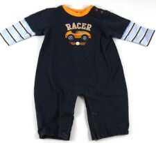 Carter's RACER Speed Champ 1 Piece Outfit Long Sleeves Pants Blue Size 6 Mths