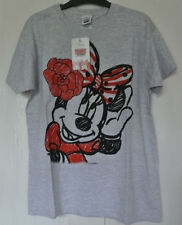 New Disney Minnie Mouse Top Grey 100% cotton 9-10 years