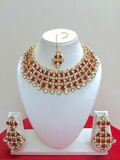 Indian Bollywood Gold Plated Bridal Wedding Fashion Jewelry Necklace Set