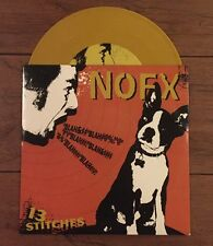 "NOFX 13 Stitches 7"" Yellow Color Vinyl Fat Wreck Chords Lagwagon Pennywise"