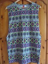 NEW WOMEN'S H&M COTTON VISCOSE T SHIRT LONG SLEEVELESS TOP EUR S SIZE UK 10 BNWT