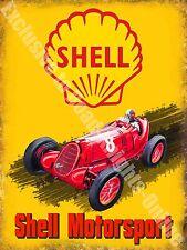 Vintage Garage 17 Motorsport Öl Kraftstoff Alt Werbe Großes Metall/Zinn-zeichen