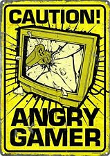"A5 Print – ""CAUTION ANGRY GAMER"" (Picture Gaming PS3 PS4 XBOX ONE SEGA NINTENDO)"