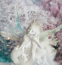 ooak fairy art doll Cernit Unikat Elfe LARGE ice Queen ice fairy crystal crown