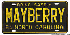 Mayberry NC 1961 Novelty Aluminum License