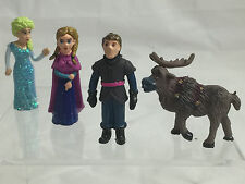 Disney Frozen 4 pcs set of min figures, cake topping, mini garden decorateion