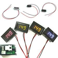 New Green LED 2 Wire Digital Display Voltage Voltmeter Panel Motor DC 0-30V E11