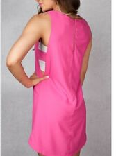 Womens Large Love Riche Fuchsia Dress with Side Cut Outs New With Tags