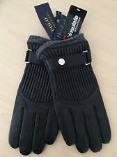 POLO RALPH LAUREN BLACK LEATHER RACING GLOVES WITH WOOL THINSULATE LINING SIZE L