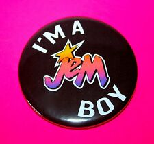 Large Vintage Style Jem and the Holograms Jem Boy 58mm button pin badge Gay
