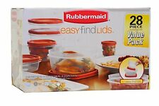Rubbermaid Easy Find Lid Food Storage Container, 42Piece set, New, Free Shipping