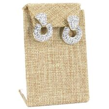 "MODERN BURLAP EARRING DISPLAY STAND DROP EARRING STAND JEWELRY DISPLAY 3 3/8""H"
