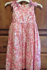 Rare Editions Girls Dress 6X White Pink French Toile, Cotton BEAUTIFUL!