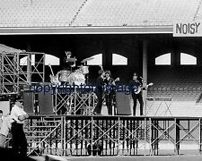 The Beatles in concert  at Comiskey Park, Chicago IL August 1965  B+W 8x10 A-cp