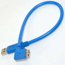 30cm USB 3.0 A male Plug to Micro B male 10Pin 90 Degree Left Angle Wire Cable