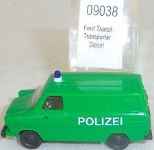 Ford Transit Polizei Transporter Diesel IMU EUROMODELL 09038 H0 1:87 OVP #HU6  å