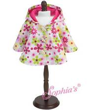 "Flower Rain Poncho fit 15"" American Girl Doll Bitty Baby rain coat FLORAL"