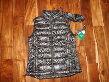 NWT Womens WEATHERPROOF Lightweight Packable Green Army Camo Down Vest XL