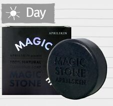 April Skin Magic Stone Face Whitening 100% Cleansing Soap 100g Charcoal Black