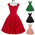 SWEETHEART 50s 60's VINTAGE PINUP SWING PROM PARTY TEA DRESS S M L XL