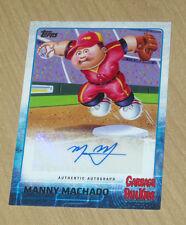 2015 Topps Garbage Pail Kids GPK Series 1 baseball autograph Manny Machado