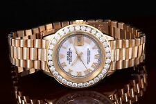 Rolex Yellow Gold Ladies Datejust President, 1.8 Carat Diamond Bezel