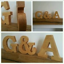 Large Wooden Letters Solid Wood Free Standing Personalised Wedding Gift 7 Inches
