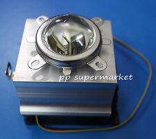 20-100W LED Aluminium Heat Sink Cooling Fan+44mm Lens + Reflector Bracket kit