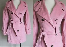 OOAK Handmade Pink Womens 1800s Rep Steampunk Military Wool Velvet Jacket Coat S