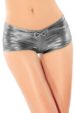 Sexy Ladies Women's Silver Metallic Low Rise Pants Knickers