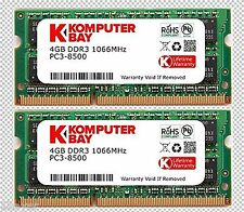 Komputerbay 8GB (2x4GB) DDR3 SODIMM 204pin 1066Mhz PC3 8500 Apple Mac Memory