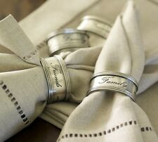 Pottery Barn Antique Napkin Rings ~ Set of (6) Six