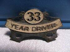 RMT UK RAIL MARITIME TRANSPORT WORKERS UNION 33 YEAR DRIVER CHAUFFEUR BADGE