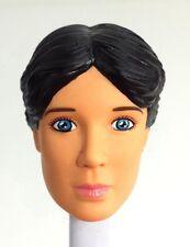 1/6 Female Head w/Molded  Black Hair & Blue Eyes - Fits female G.I. Joe body