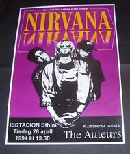 NIRVANA Concert Poster Stockholm 1994 A3 Size  Reproduction.