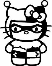 Hello kitty harley quinn vinyl decal sticker-car, van, laptop