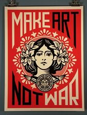 """Make Art Not War"" Shepard Fairey Poster OBEY"